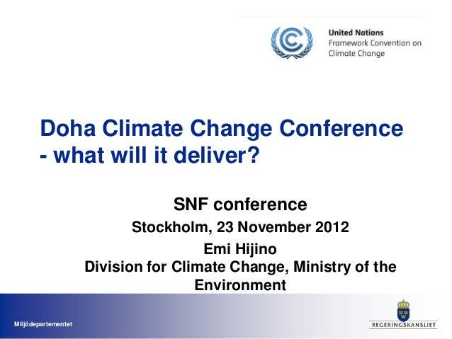 Emi Hijino Session B - I klimatförhandlingarna intet nytt (På engelska)