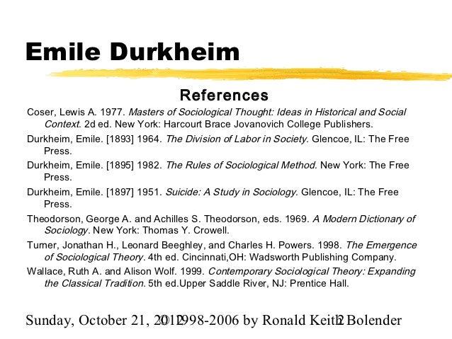 wallace stevens and emile durkheim essay