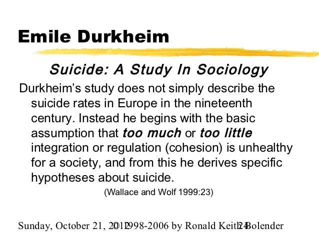 Durkheim's Study Of Suicide - UK Essays | UKEssays