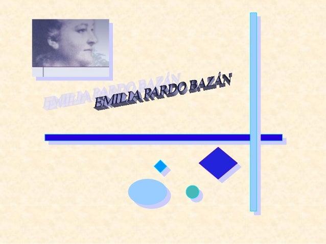 Emilia Pardo Bazán nació el 16 de septiembre de 1851 en La Coruña, ciudad que siempre aparece en sus novelas bajo el nombr...