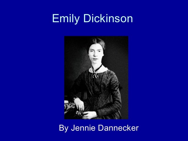 Emily Dickinson By Jennie Dannecker