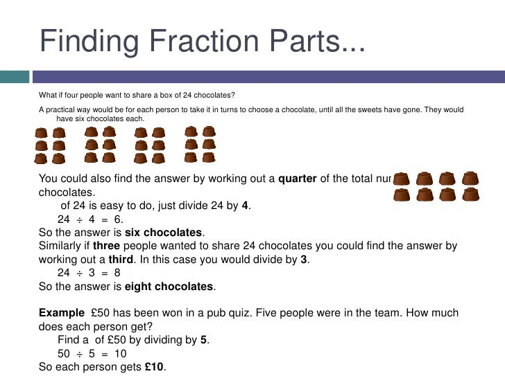 how to find out a fraction of a number