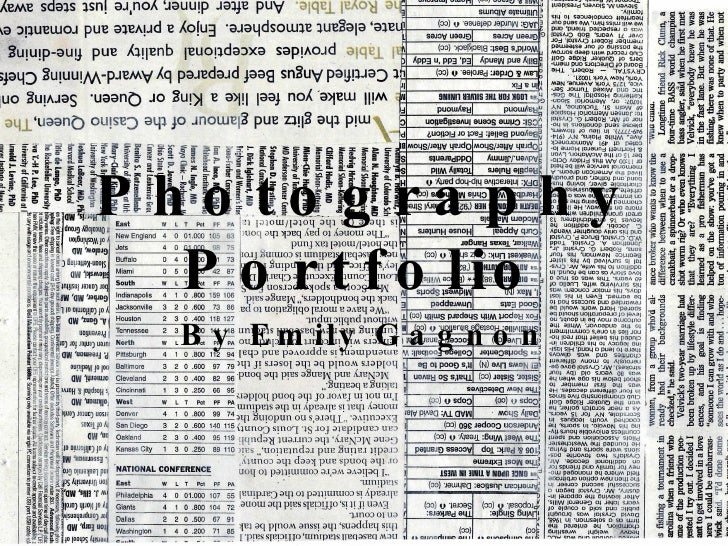 Photography Portfolio by Emily Gagnon