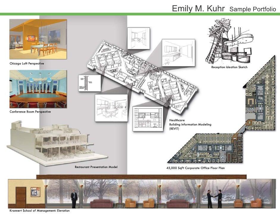 Emily kuhr sample portfolio for Interior design portfolio images