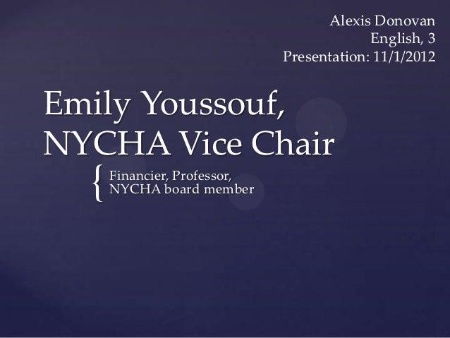 Alexis Donovan                                           English, 3                              Presentation: 11/1/2012Em...
