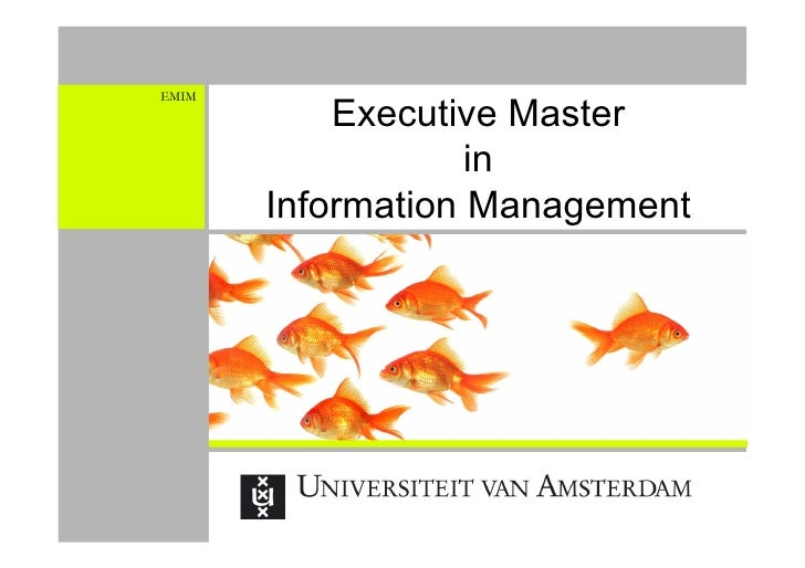 Executive Master in Informatie Management: Inspireren en Informeren