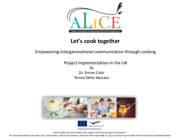 Let's cook together Empowering Intergenerational communication through cooking Project Implementation in the UK by Dr. Emi...