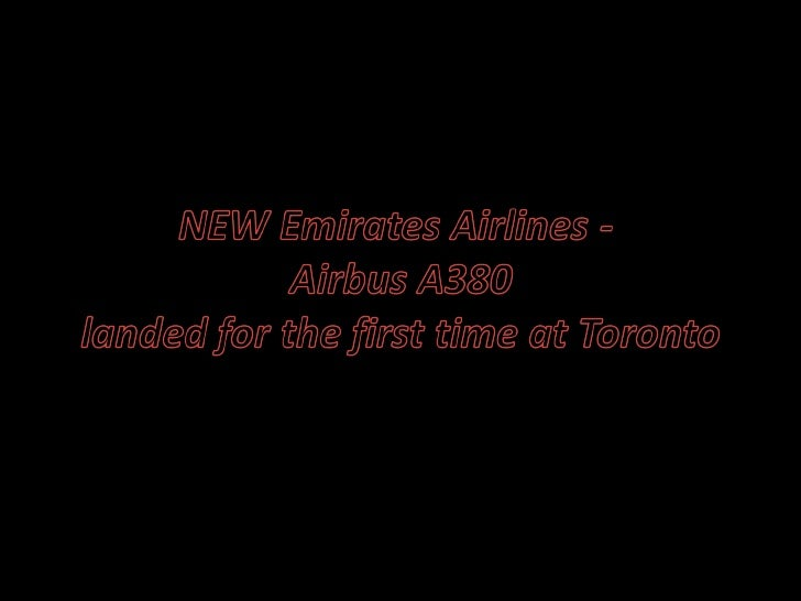 Emirates Airlines   New A380