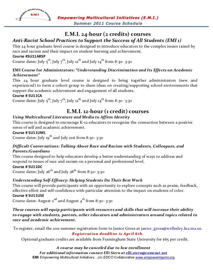EMI Summer Course Flyer
