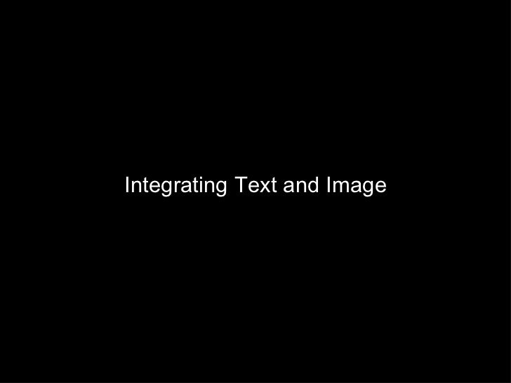 Integrating Text and Image