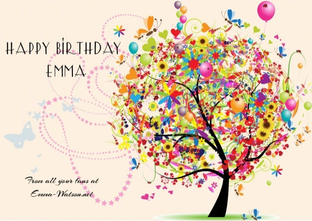Happy Birthday Emma from your fans at Emma-Watson.net Cover by Jia Hey Emma!♡ I wish you a very great Birthday! Stay emmaz...