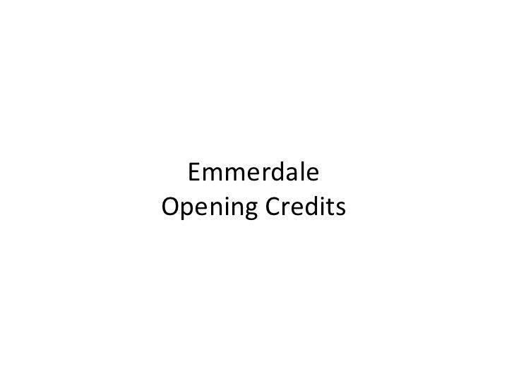 Emmerdale description   opening credits