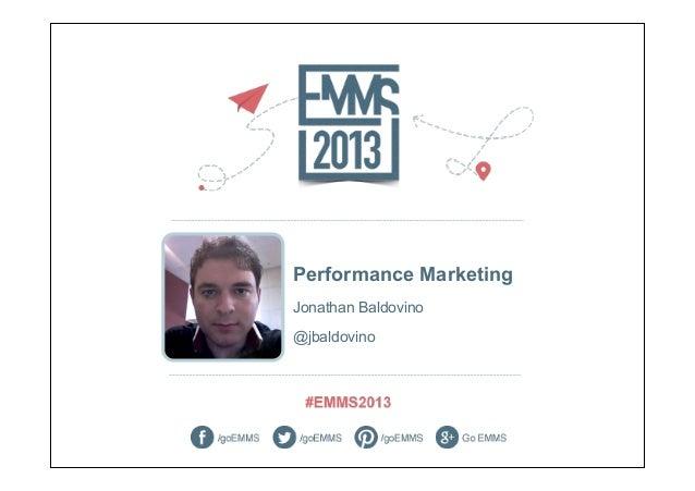 Performance MarketingJonathan Baldovino@jbaldovino