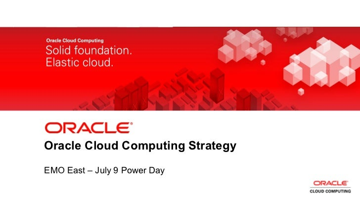Oracle Cloud Computing Strategy (EMO)