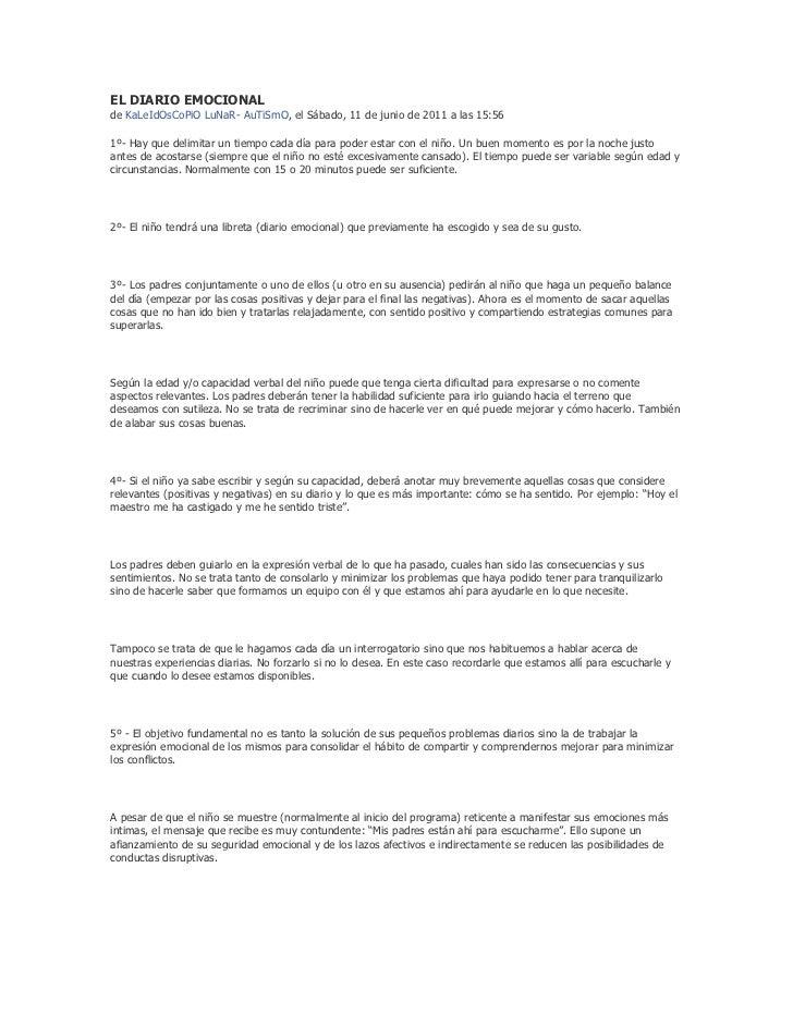 EL DIARIO EMOCIONALde KaLeIdOsCoPiO LuNaR- AuTiSmO, el Sábado, 11 de junio de 2011 a las 15:561º- Hay que delimitar un tie...