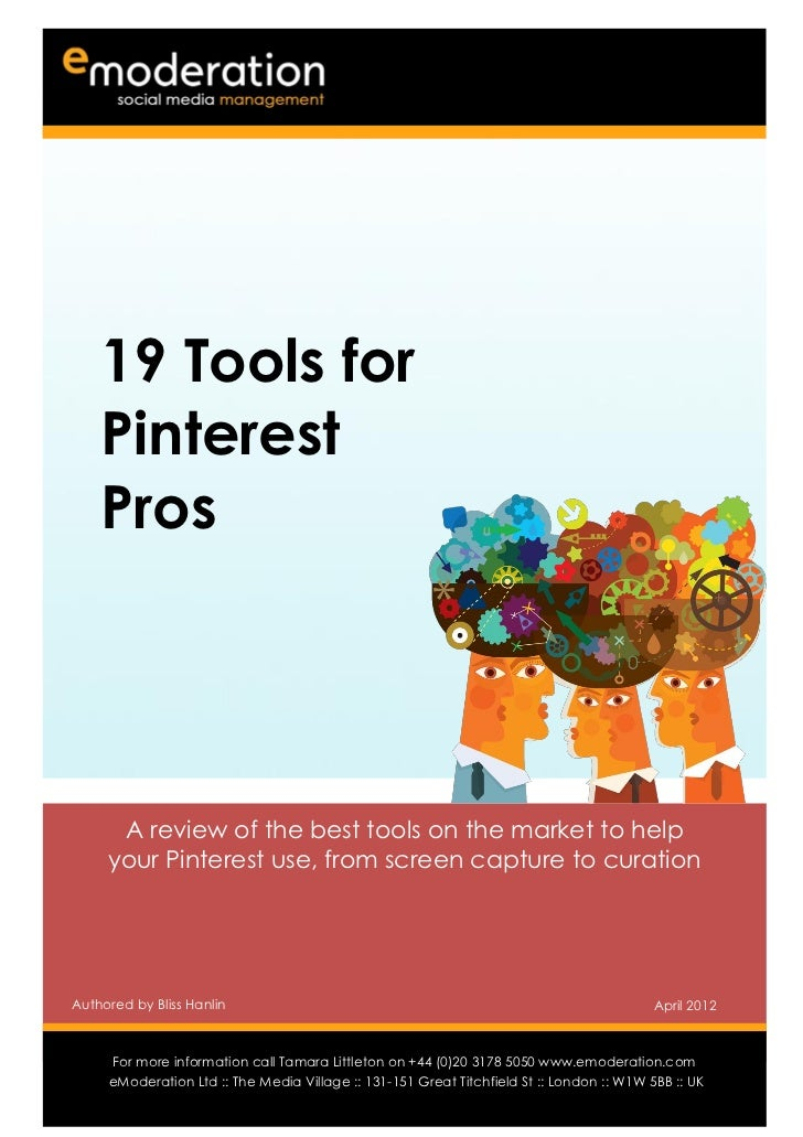 eModeration: 19 Tools for Pinterest