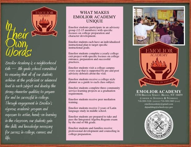Emolior Acedemy Brochure