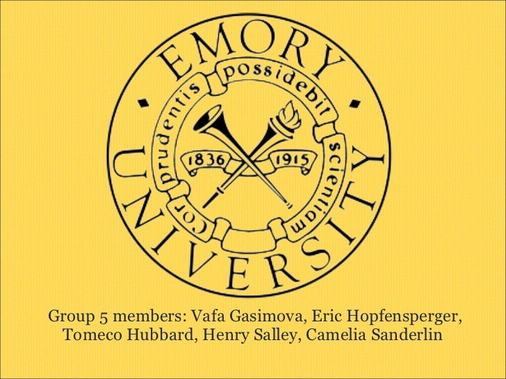 Group 5 members: Vafa Gasimova, Eric Hopfensperger, Tomeco Hubbard, Henry Salley, Camelia Sanderlin