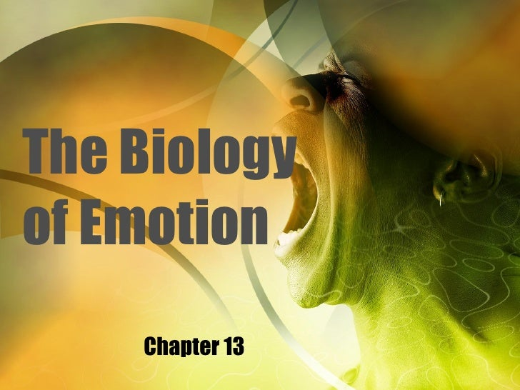 The Biology of Emotion Chapter 13