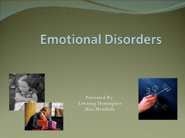 Emotional Disorders Presentation