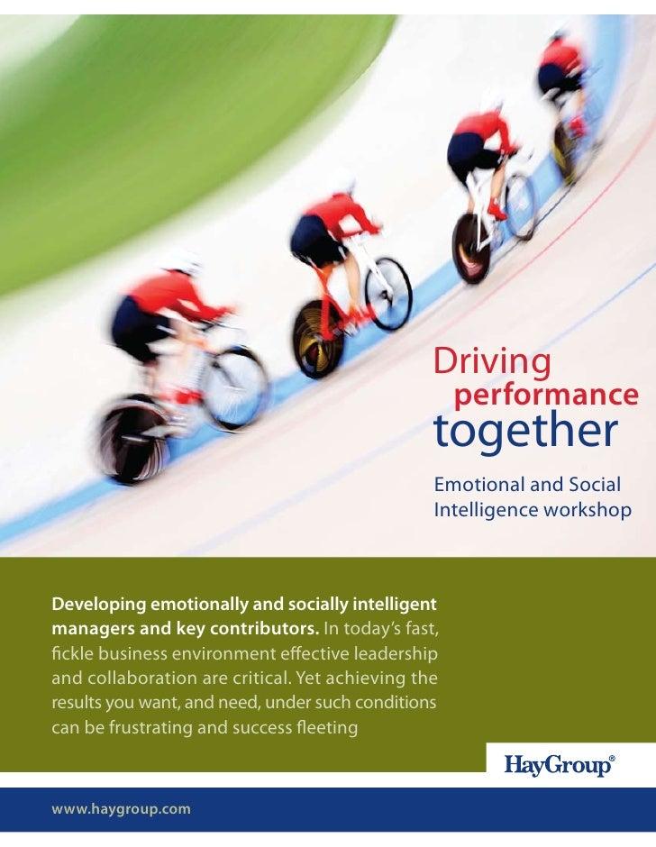 Emotional And Social Intelligence Workshop Brochure