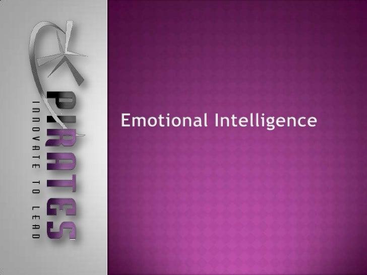 Emotional intell