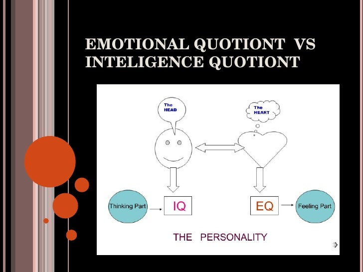 EMOTIONAL QUOTIONT  VS INTELIGENCE QUOTIONT