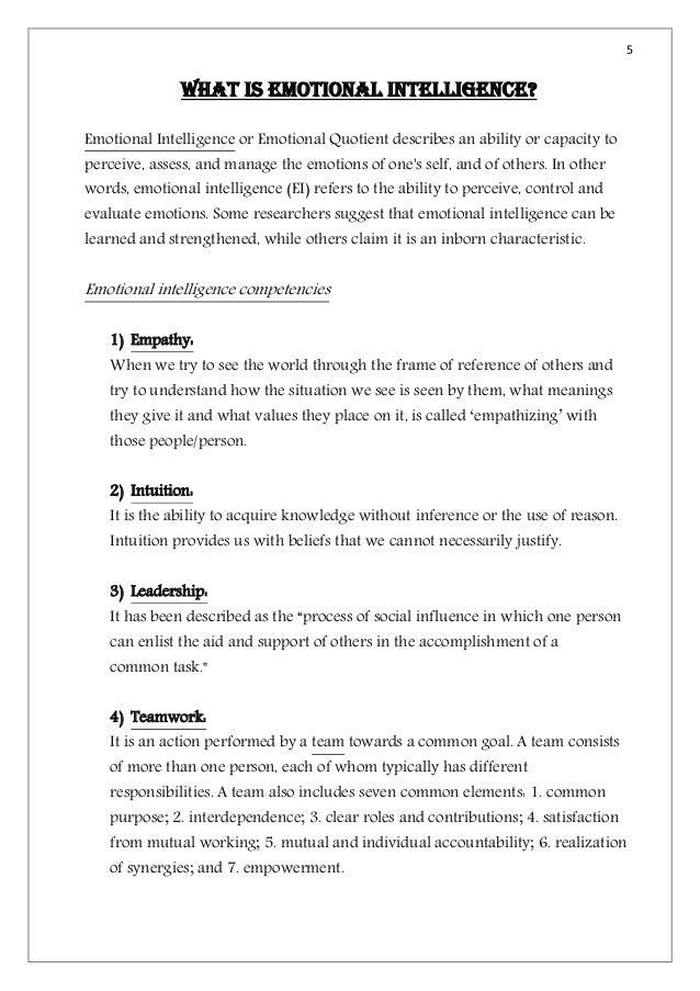 Essay on emotional intelligence