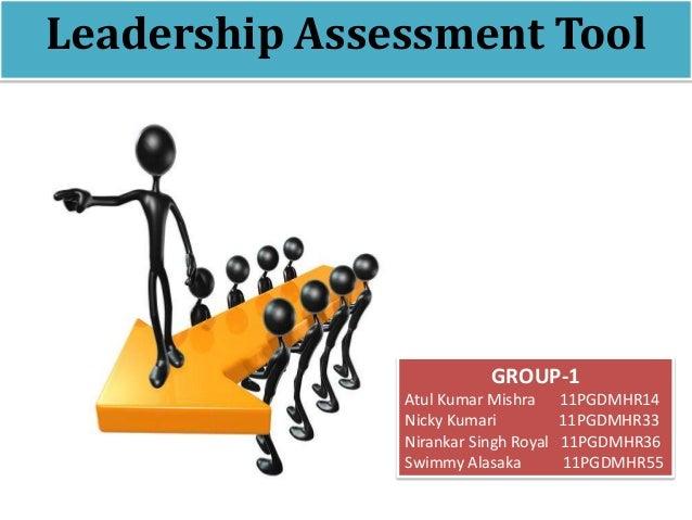 Leadership Assessment ToolGROUP-1Atul Kumar Mishra 11PGDMHR14Nicky Kumari 11PGDMHR33Nirankar Singh Royal 11PGDMHR36Swimmy ...