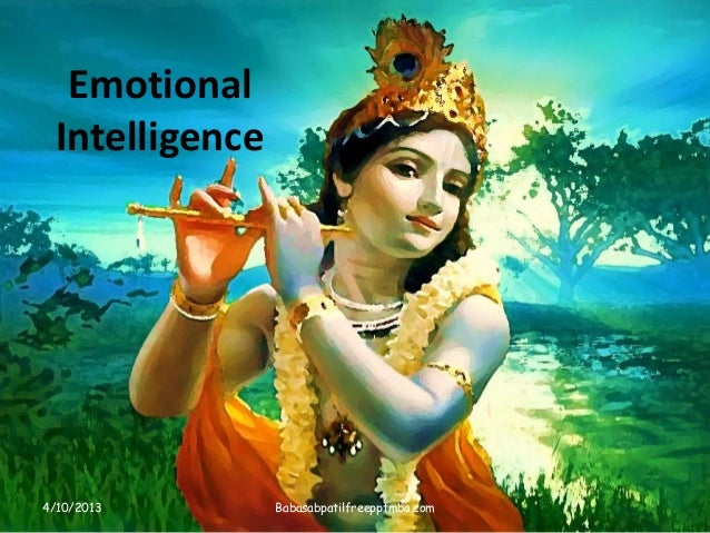 Emotional Intelligence 4/10/2013 Babasabpatilfreepptmba.com