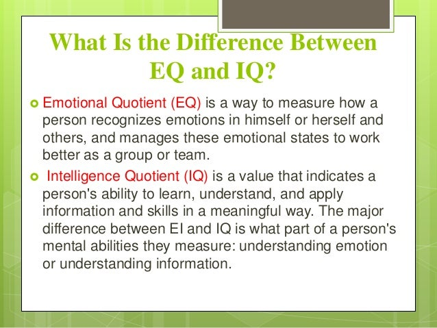 definition paper emotional intelligen The role and importance of emotional intelligence in knowledge management svetlana lazovic international school for.