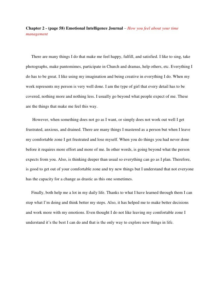 journal entry essay form