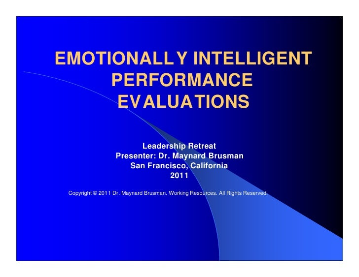 Emotionally Intelligent Performance Evaluations
