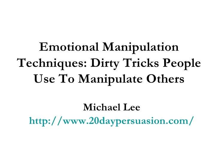 manipulation tricks