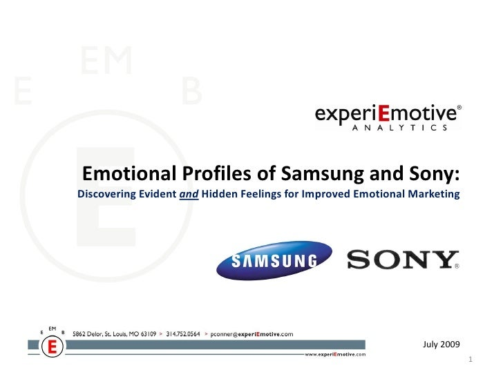 Emotional Profiles of Samsung and Sony: Discovering Evident and Hidden Feelings for Improved Emotional Marketing          ...