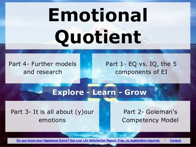 emotional quotient Trends in the us workplace suggest that success in 2016 will depend on  emotional intelligence and how it is integrated into working relationships.