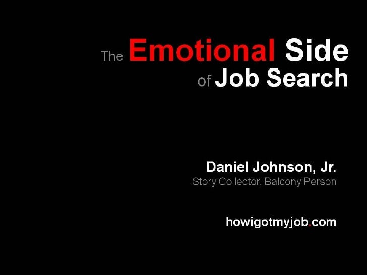 The Emotional Side of Job Search