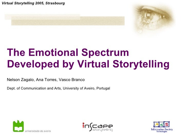 The Emotional Spectrum Developed by Virtual Storytelling