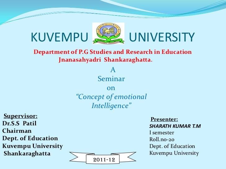 KUVEMPU                        UNIVERSITY         Department of P.G Studies and Research in Education                Jnana...