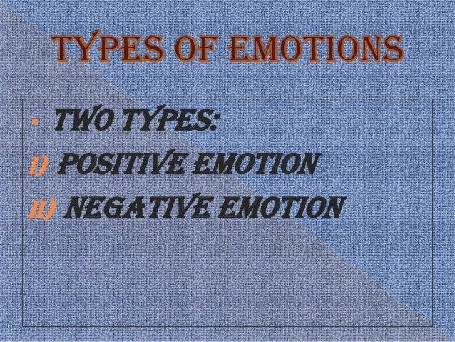 Types of Emotion