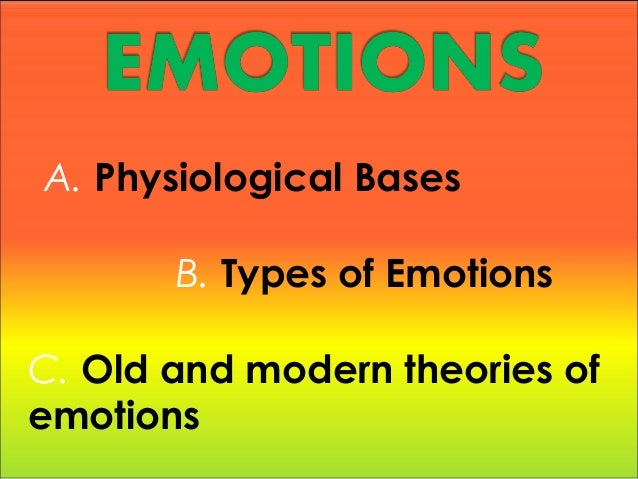 Report about Emotions and how it works