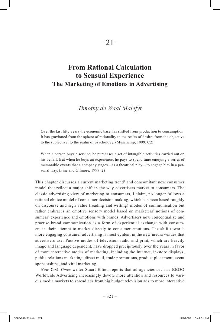 –21–                                     From Rational Calculation                                      to Sensual Experie...