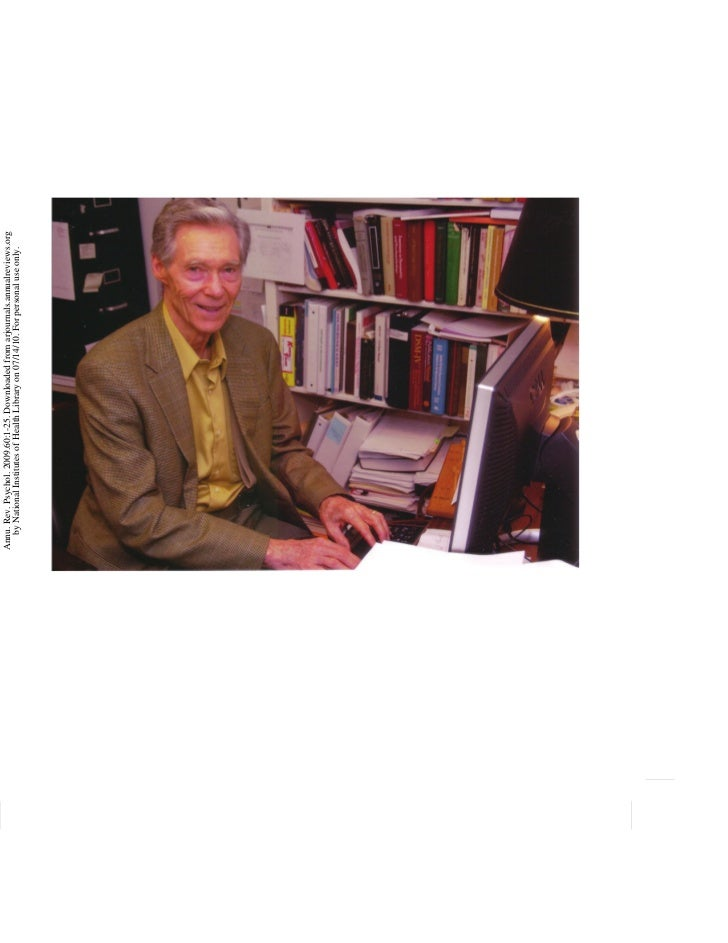 Annu. Rev. Psychol. 2009.60:1-25. Downloaded from arjournals.annualreviews.org   by National Institutes of Health Library ...