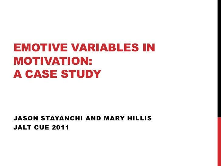 Emotive variables presentation