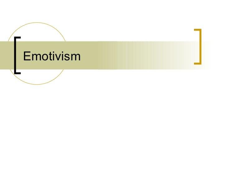 Emotivism[1]