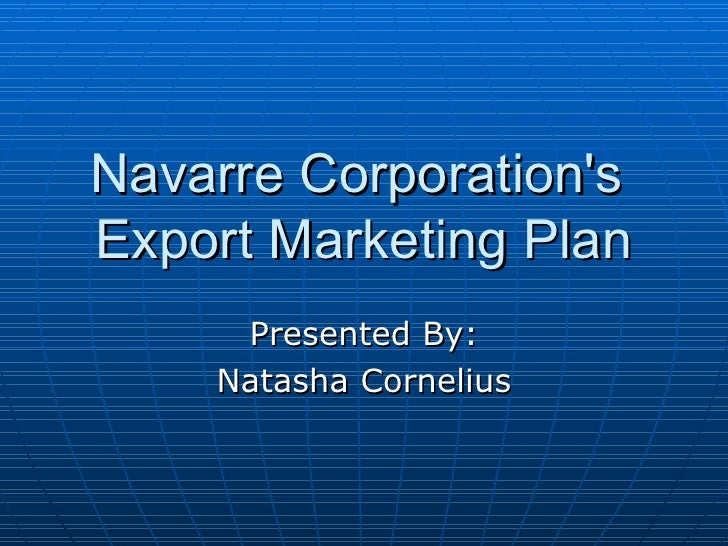 Export Marketing Campaign for Navarre