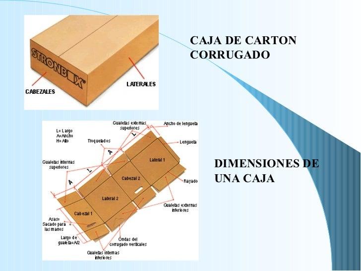 CAJA DE CARTON CORRUGADO DIMENSIONES DE UNA CAJA