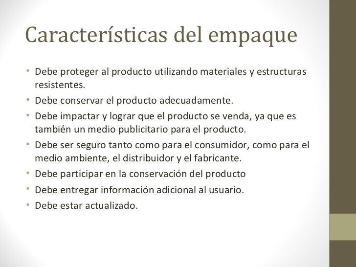 Empaque etiqueta y embalaje - Descripcion del producto ...