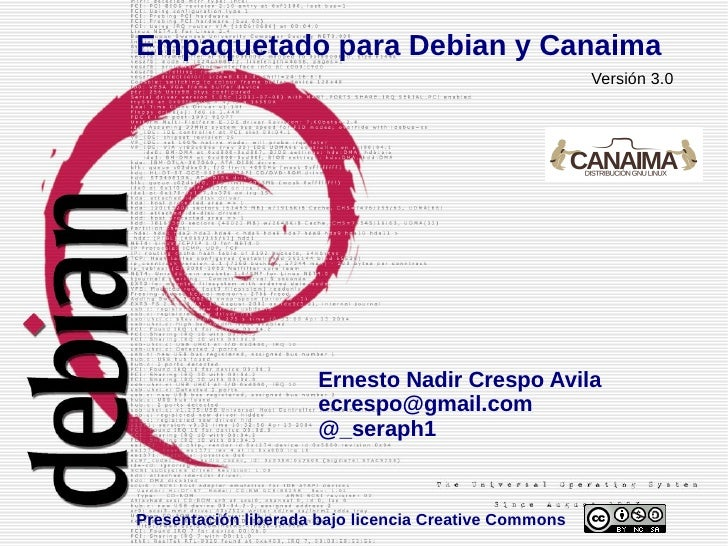 Empaquetado para Debian y Canaima                                                       Versión 3.0                      E...