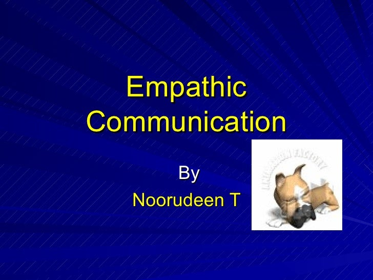 Empathic Communication By Noorudeen T